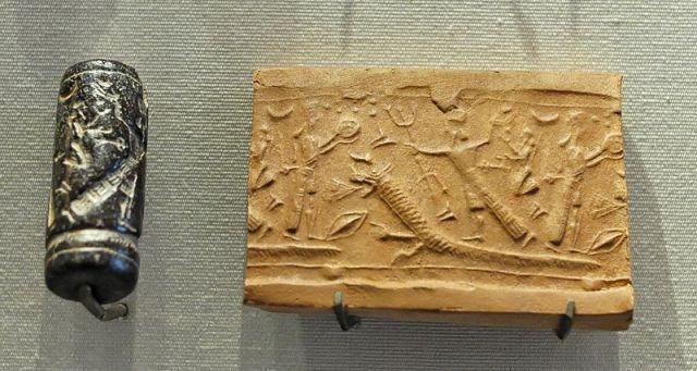 800px-Cylinder_seal_mythology_Louvre_AO30255