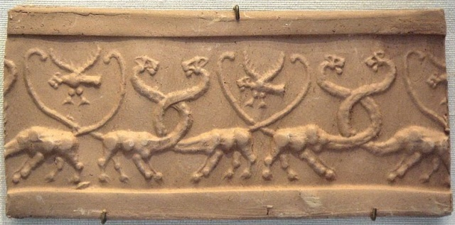 Entwined Dragons Uruk Seal Impression