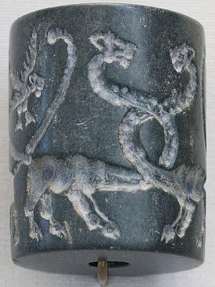Entwined Dragons Uruk Seal