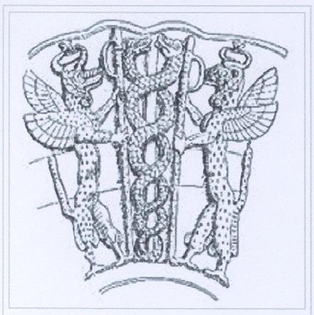 Gudea vase drawing